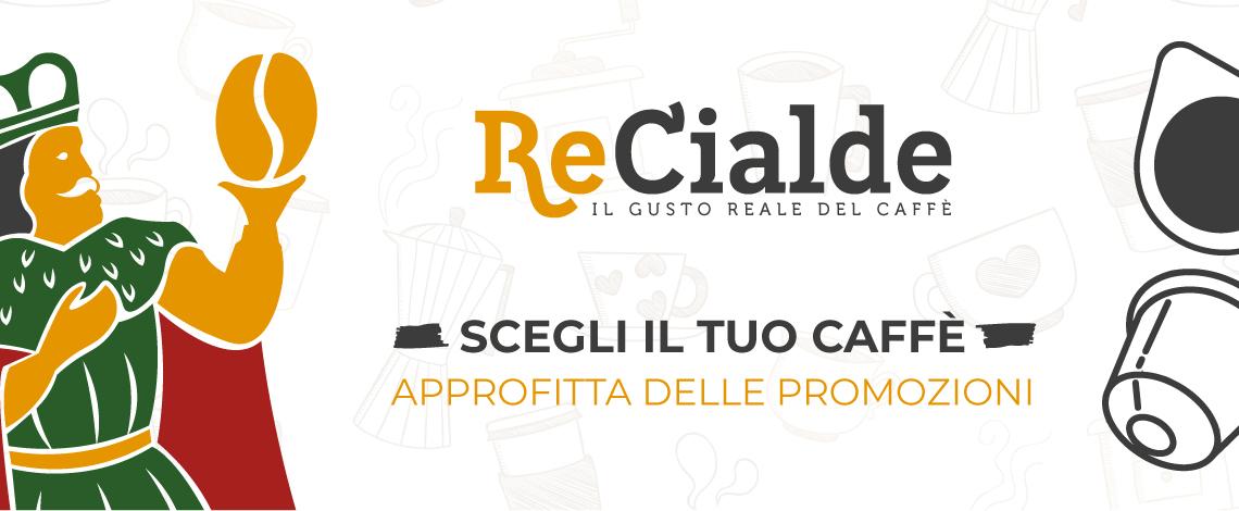 Sul nostro sito Re Cialde trovate tutti i tipi di caffè in capsule e cialde compatibili dei maggiori brand. testo accapo